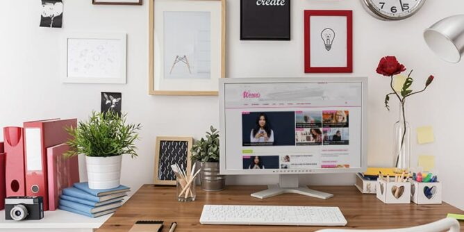 how to glam up your workspace